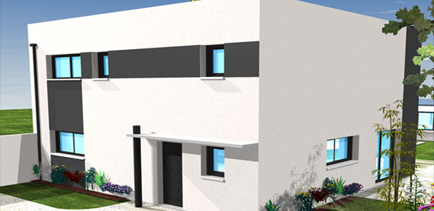perspective de maison moderne