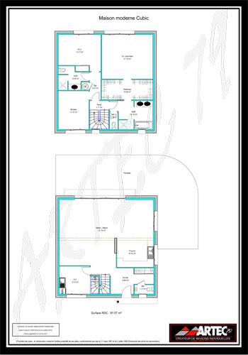 Plans De Maisons Constructeur Deux Sèvres - Plan de maison a etage moderne