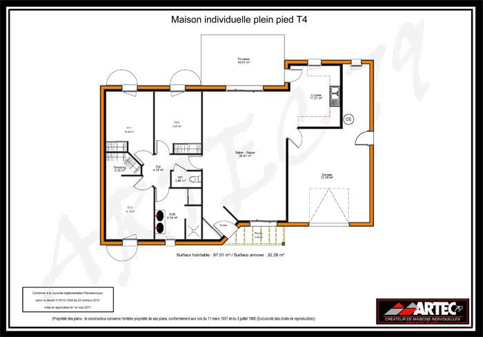plan maison T4