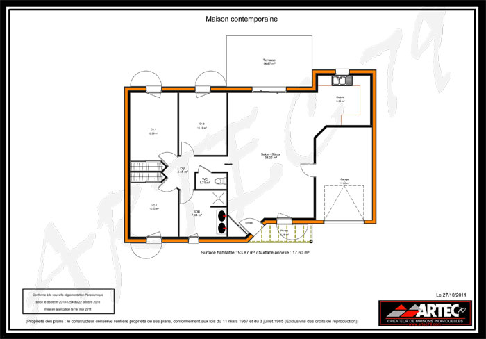 Maison moderne plan joy studio design gallery best design for Maison contemporaine plan