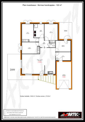 plan maison handicapes