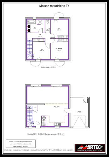 plans de maisons constructeur deux s vres. Black Bedroom Furniture Sets. Home Design Ideas