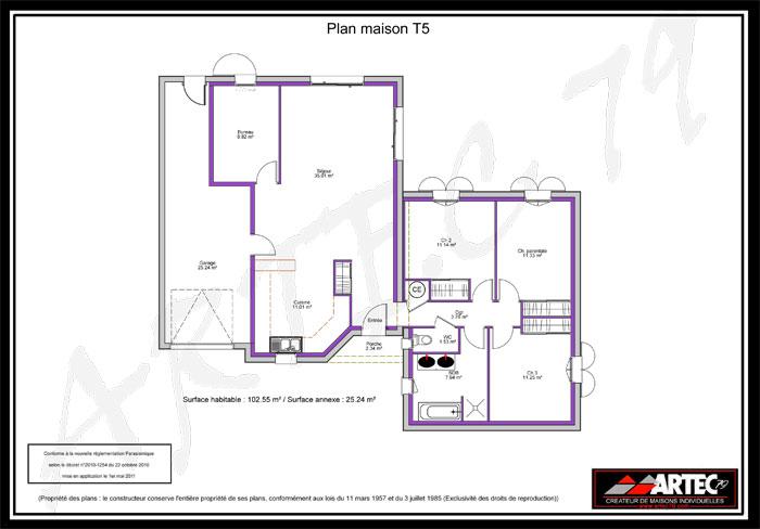 plan maison t5